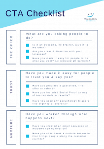 FREE CALL TO ACTION CHECKLIST