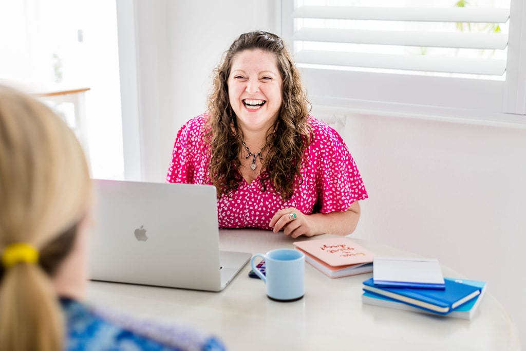 Sydney Content Strategist working with a client